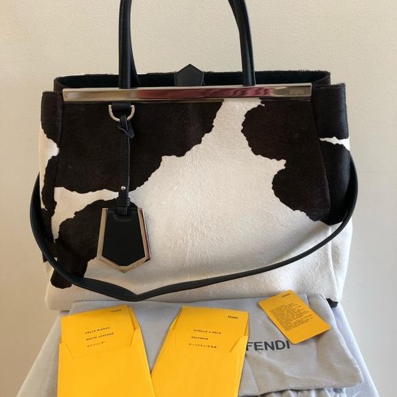 532f5341bccf Fendi Handbags - Fendi 2Jours Calf Hair Shopper Handbag